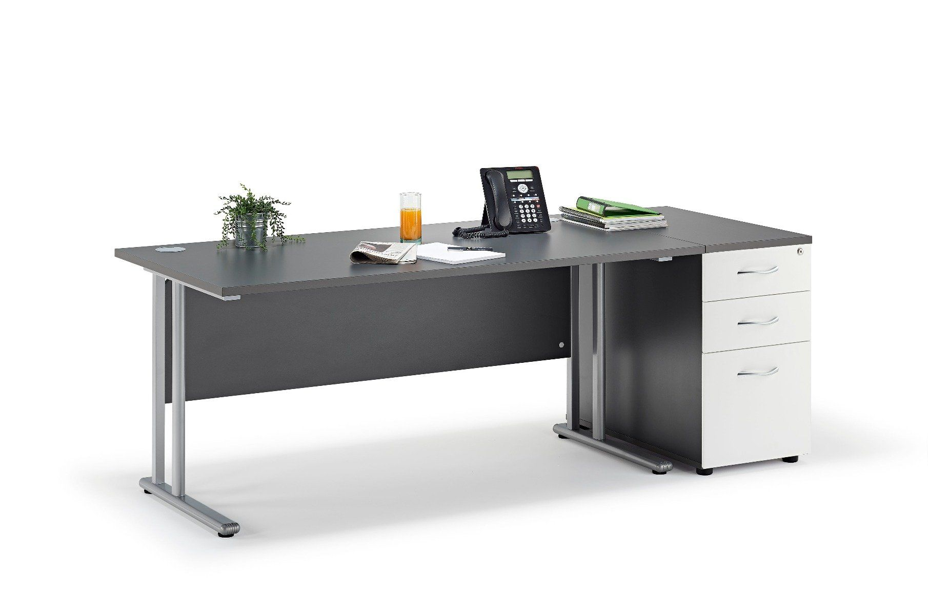 graphite-straight-cantilever-desk-and-800mm-deep-desk-high-pedestal-2